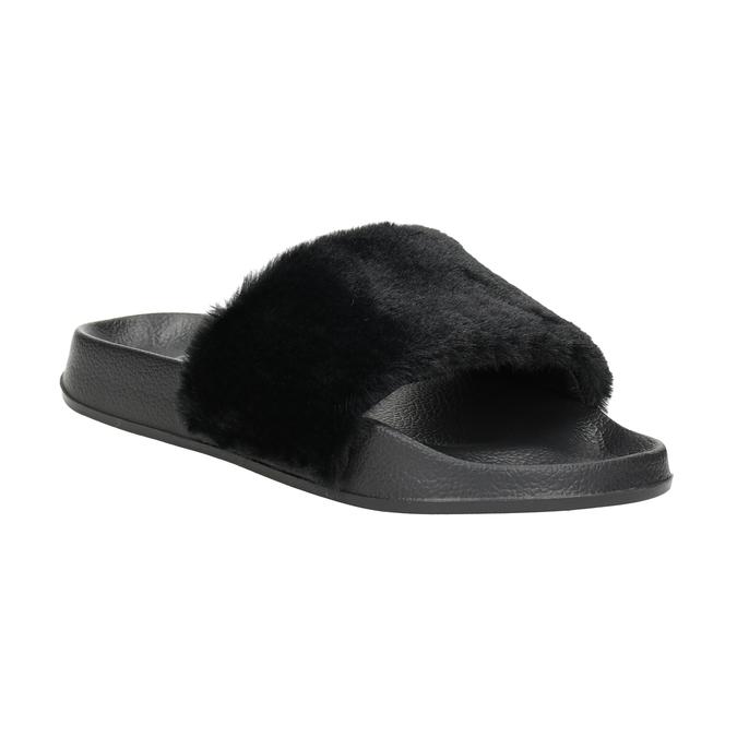 Ladies' black slippers north-star, black , 579-6624 - 13