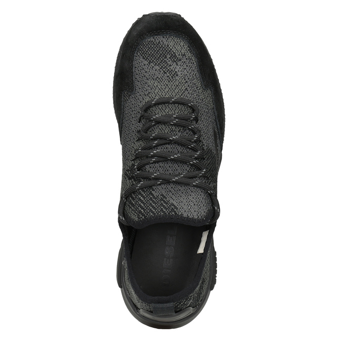 Ladies' sporty sneakers diesel, black , 509-6760 - 17