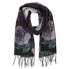 Ladies' scarf with floral pattern bata, violet , 909-9643 - 13