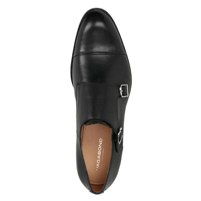 Men's leather Monk Shoes vagabond, black , 814-6023 - 15