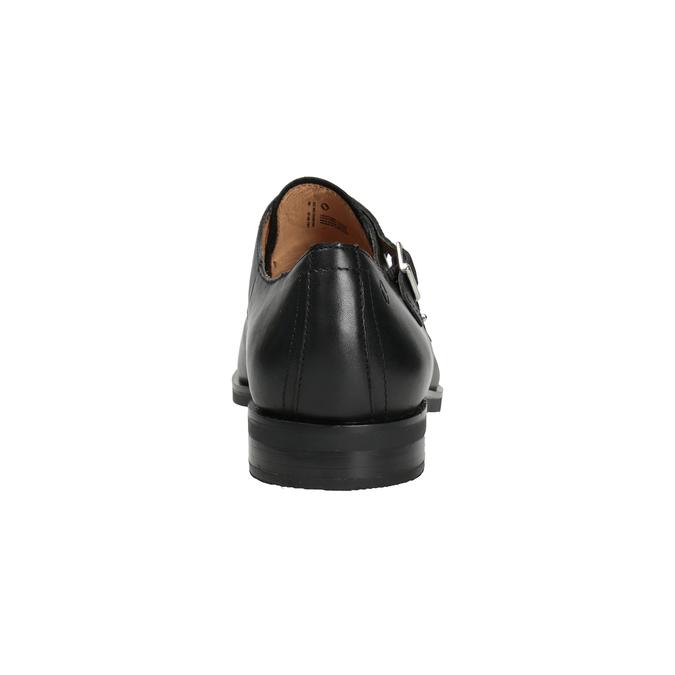 Men's leather Monk Shoes vagabond, black , 814-6023 - 16