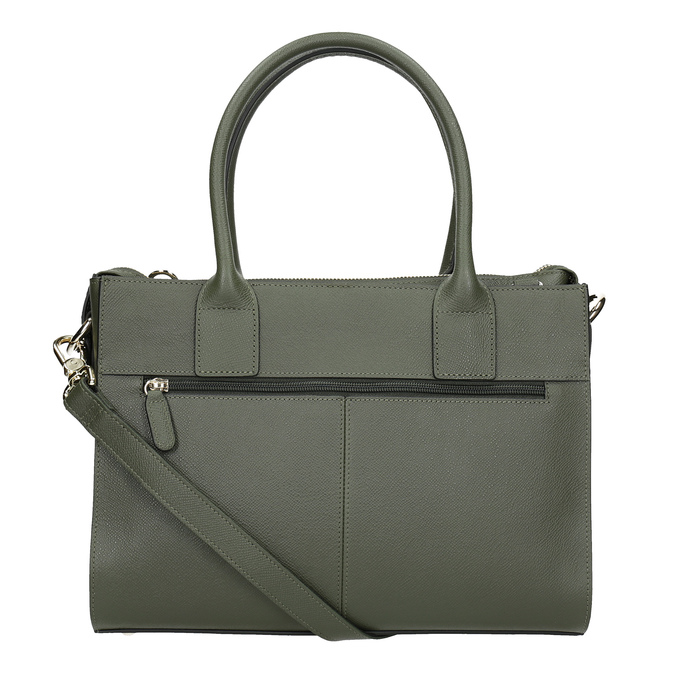 Leather handbag with strap picard, green, 966-7039 - 16