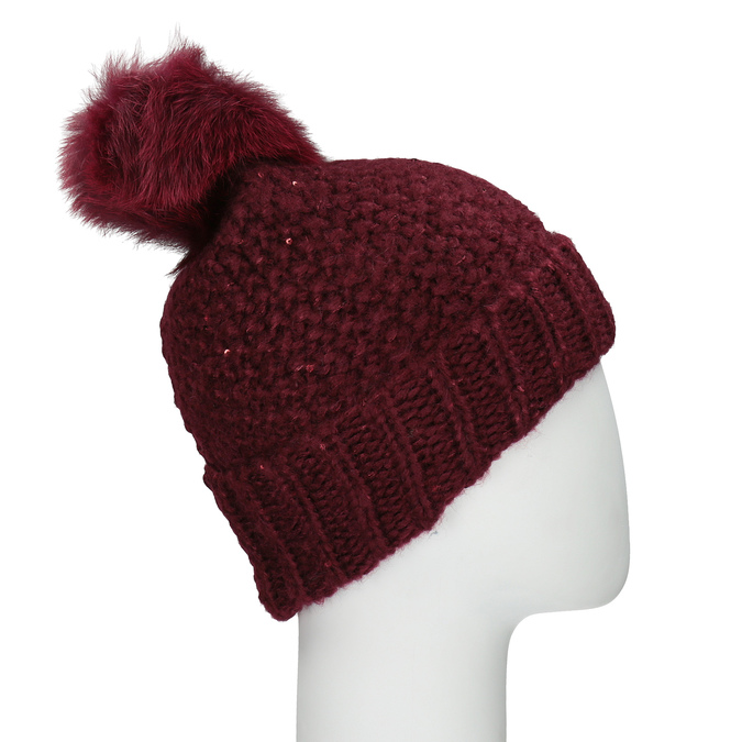 Furry Pompom Hat bata, multicolor, 909-0152 - 15