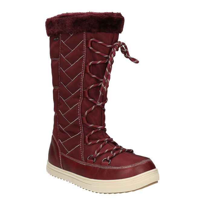 Ladies' Burgundy Snow Boots bata, red , 599-5621 - 13