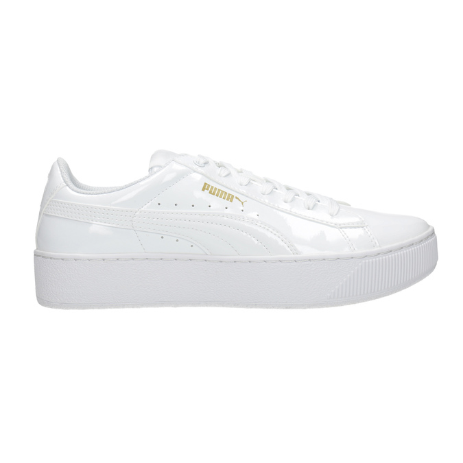 Ladies' white flatform sneakers puma, white , 501-1159 - 26