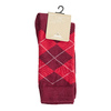 Men's Socks with an English Pattern bata, red , 919-5300 - 13