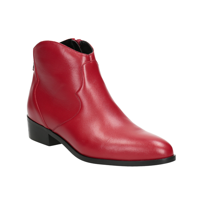Red high ankle boots bata, red , 594-5665 - 13
