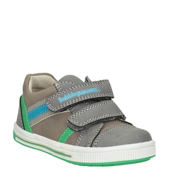 Girls' sneakers with Velcro bubblegummer, gray , 111-2625 - 13