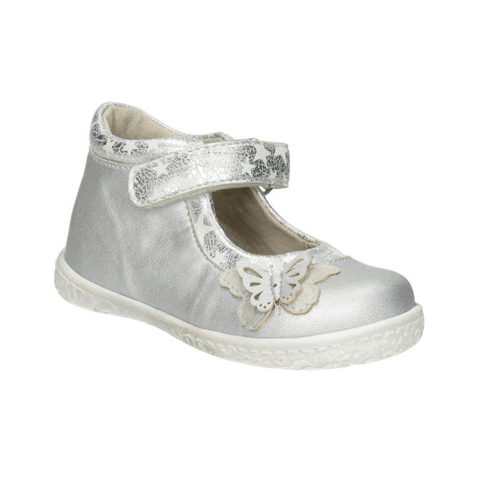 Silver girls' ballerinas bubblegummer, gray , 121-2620 - 13