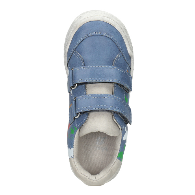 Blue sneakers with print mini-b, 211-9218 - 15