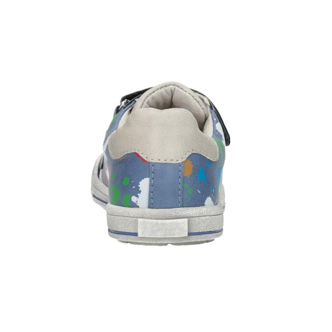 Blue sneakers with print mini-b, 211-9218 - 16