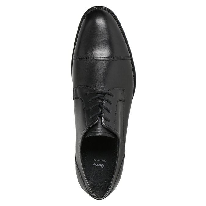 Men's Leather Derby Shoes, black , 824-6995 - 15
