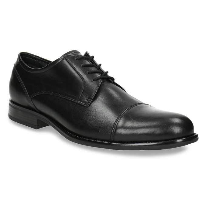 Men's Leather Derby Shoes bata, black , 824-6995 - 13