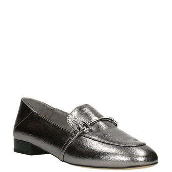 Silver moccasins with a buckle bata, silver , 511-1609 - 13