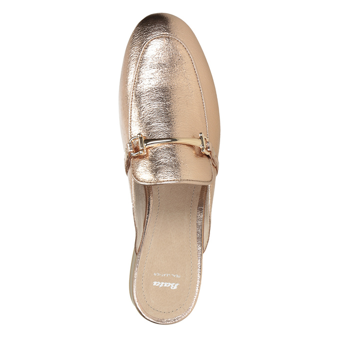 Ladies' slippers with a buckle bata, gold , 511-8609 - 15