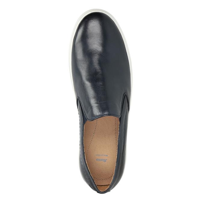 Men's Leather Slip-Ons bata, blue , 836-9601 - 15
