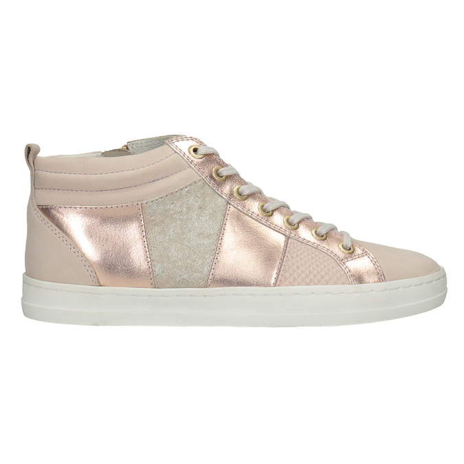 Ladies' high-top sneakers bata, pink , 546-5608 - 26