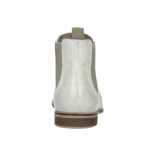 Ladies' Chelsea style boots bata, white , 596-1684 - 16