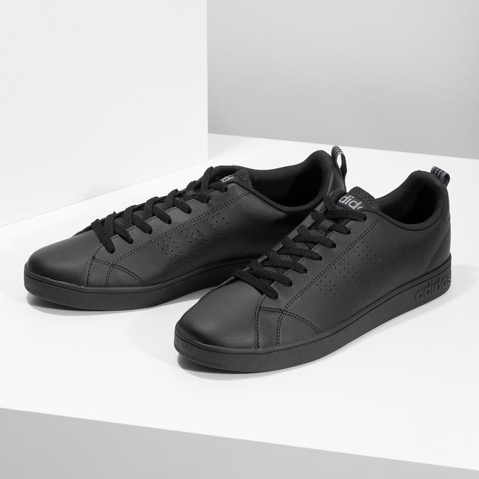 Men's black sneakers adidas, black , 801-6144 - 16
