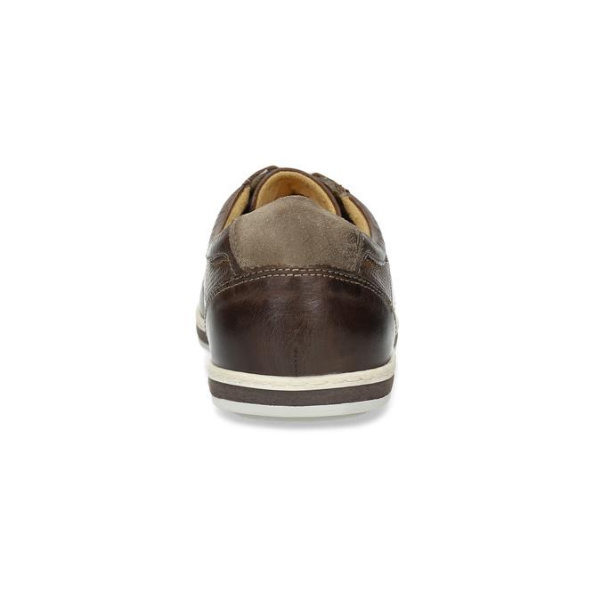 Men's leather sneakers bata, brown , 846-4617 - 15