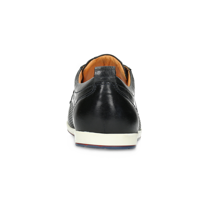 Casual leather low shoes bata, black , 824-9124 - 15