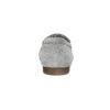 Grey leather moccasins bata, gray , 513-2615 - 15