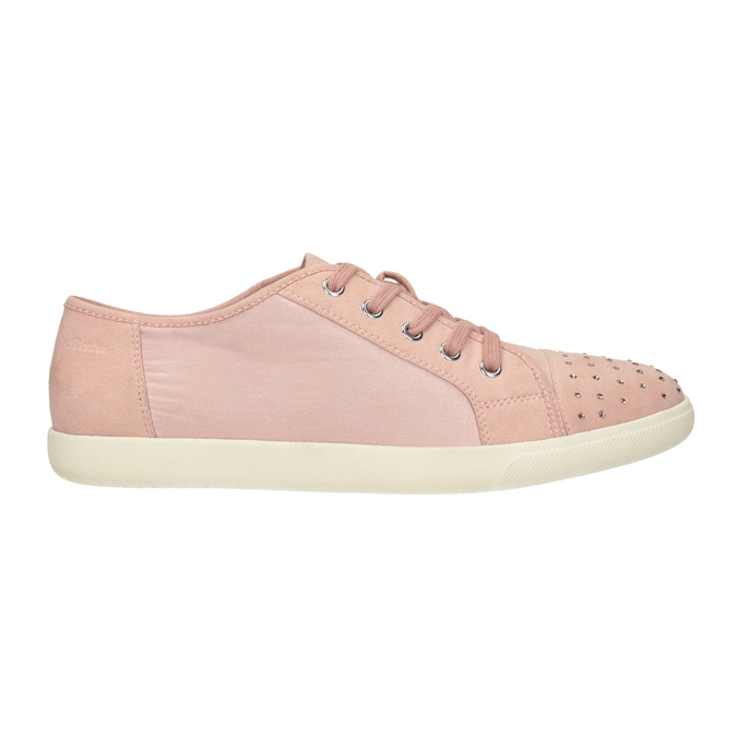 Ladies' casual sneakers with small rhinestones, 549-5607 - 26