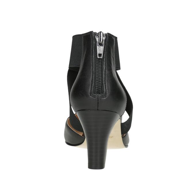Ladies' leather pumps insolia, black , 624-6643 - 16