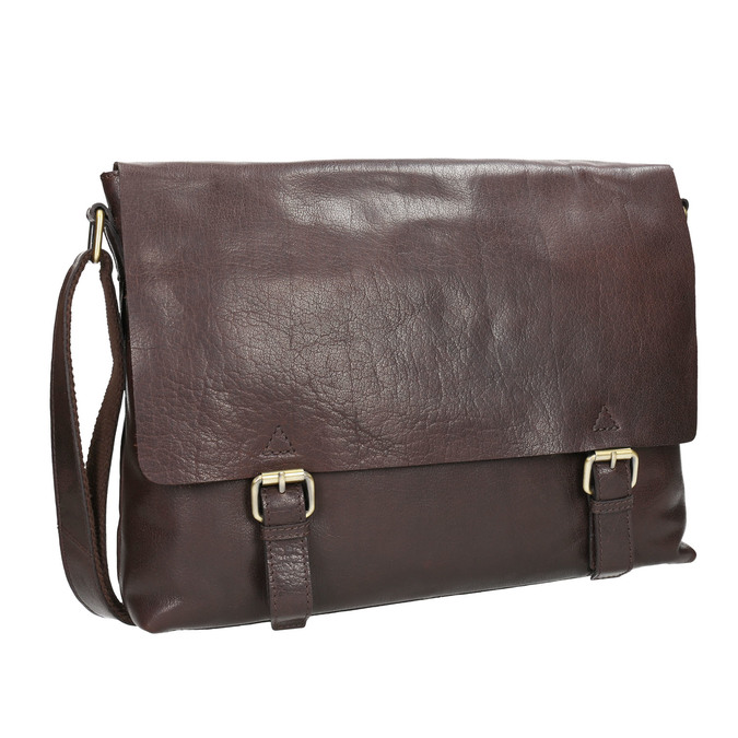 Men's Leather Bag bata, brown , 964-4235 - 13